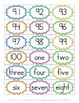 Number Sense: Number and Word Cards
