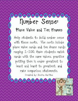 Number Sense: Place Value, Ten Frames