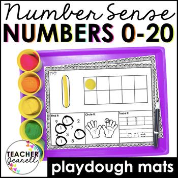 Number Sense Play Dough Mats 0-20
