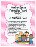 Number Sense Printables Pack! Numbers 0-30!