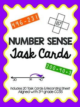 Number Sense Review: Task Cards