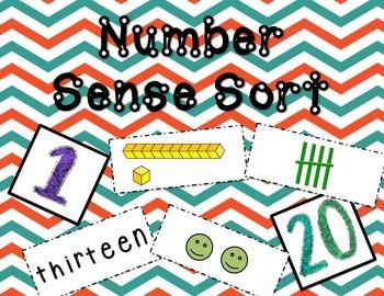 Number Sense Sort 1-20