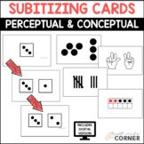 Number Sense: Subitizing Cards, Perceptual & Conceptual