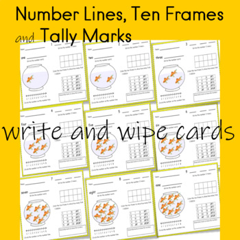 Math Center Ten Frames Number Lines Tally Marks write and