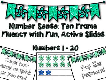 Number Sense: Ten Frame Fluency with Fun, Active Slides