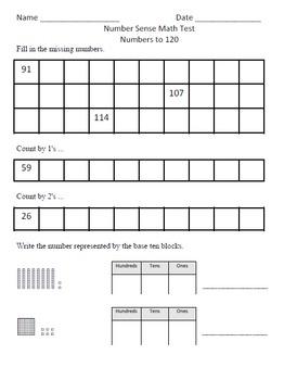 Number Sense Test