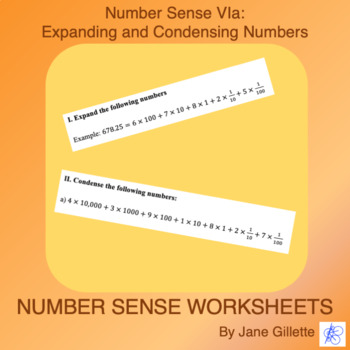 Number Sense Via: Expanding and Condensing Numbers