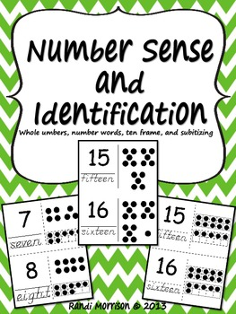 Number Identification and Subitizing (#1-20)