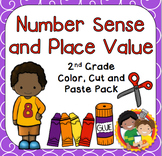 Number Sense and Place Value Color, Cut & Paste Pack for 2