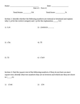 Number Sense and Scientific Notation