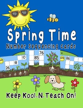 Number Sequencing Cards-Spring