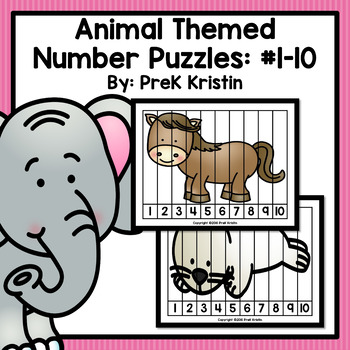 Number Puzzles: Animal Themed