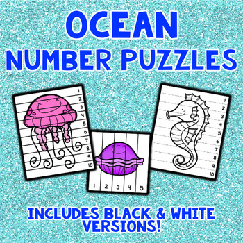 Ocean Number Sequencing Puzzles
