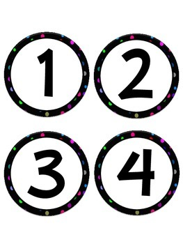 Polka Dot Number Set (1-120)