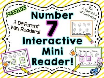 Number Seven Interactive Mini Readers- FREEBIE!