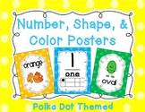 Number, Shape, Color Posters