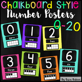 Number Signs: Chalkboard Brights