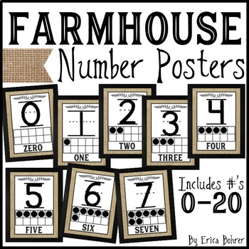 Number Signs: Farmhouse Style