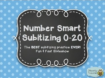 Number Smart Subitizing 0-20: The BEST Subitizing Practice