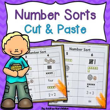 Number Sorts - Cut & Paste