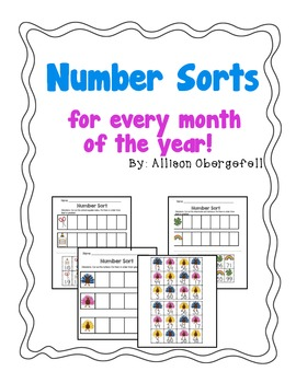 Number Sorts for every Month