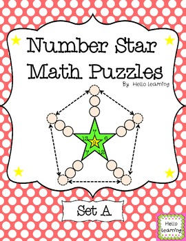 Number Star Math Puzzles - Set A