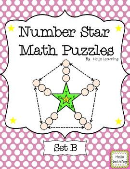 Number Star Math Puzzles - Set B