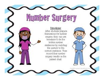 Number Surgery {Freebie}