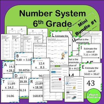 Number System 6th Grade Mini Bundle #1