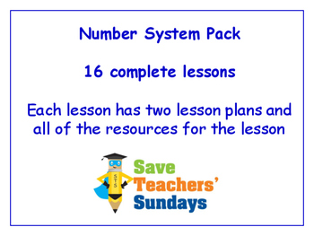 Number System Lessons Bundle / Pack (16 Lessons for 1st to