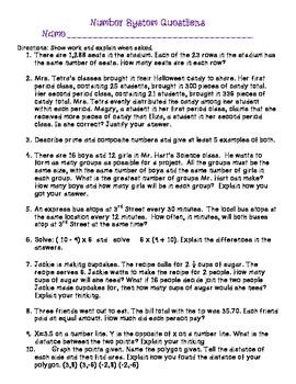 Number System Quiz