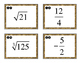 Number System - Rational, Irrational Numbers Card Sort Act
