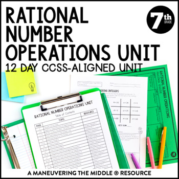 7th Grade Rational Numbers Unit: 7.NS.1, 7.NS.2, 7.NS.3