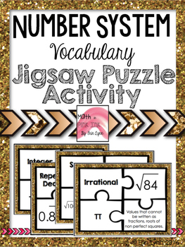 Number System - Vocabulary Jigsaw Activity 8.NS.A.1 8.NS.A