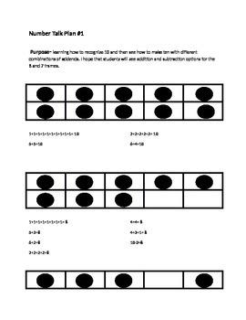 Number Talk- Making Tens
