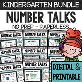 Number Talks - A Yearlong Program for Kindergarten - Commo
