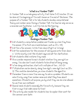 Number Talks-How to