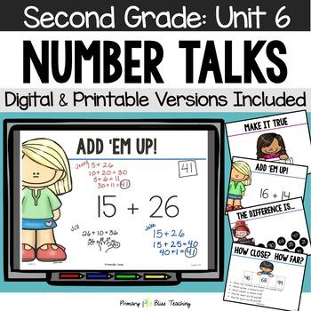 Number Talks / Math Talks ~ February of Second Grade ~ Com