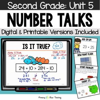 Number Talks / Math Talks ~ January of Second Grade ~ Comm
