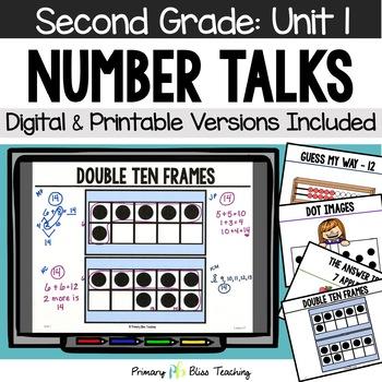 Number Talks / Math Talks September of Second Grade ~ Comm