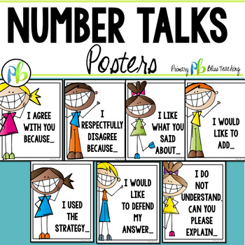 Number Talks Posters {Free}