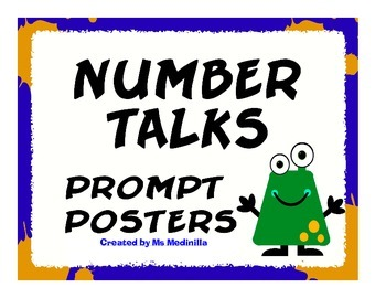 Number Talks Prompt Posters for Male Teachers CCSS.MATH.PR