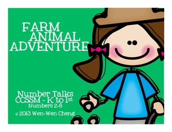 """Number Talks with """"Farm Animal Adventure"""" Story Context (K"""