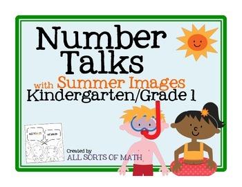 Number Talks with Summer Images (Kinder/1st)