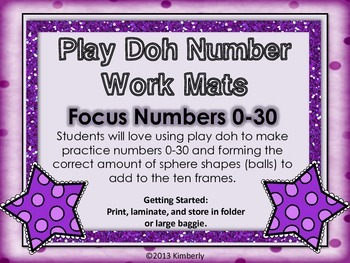 Number & Ten Frame Play Doh (or Dry Erase) Work Mats {Focu