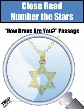 """Number The Stars Close Reading Exercise """"How Brave Are You"""""""