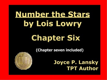 Number The Stars Literary Unit for Chapters 6 & 7 on Prome