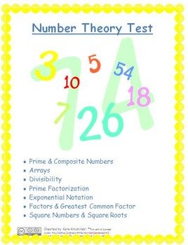 Number Theory Test: Prime/Composite, Divisibility, Factors