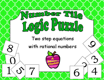 Number Tiles Logic Puzzle Two Step Equations