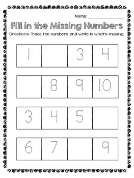 Number Trace & Fill to 100 by Decade, plus 5s & 10s - Scaf